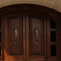 درب های لابی چوبی